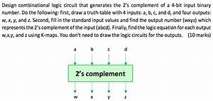 Solved  Design Combinational Logic Circuit That Generates