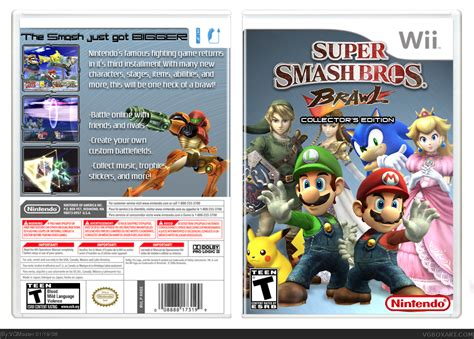 Super Smash Bros Brawl Wii Box Art Cover By Vgmaster