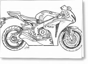 Sportbike Drawing At Getdrawings Com