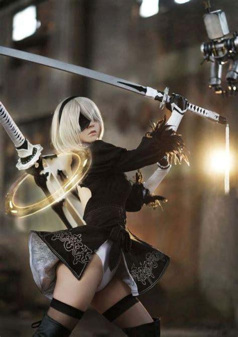 stunning nier automata cosplay  pics