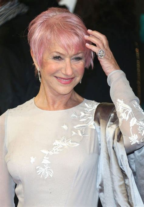 Helen Mirren Dyed Her Hair Pink Because Shes Obsessed