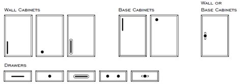cabinet hardware placement standards installing new cabinet hardware