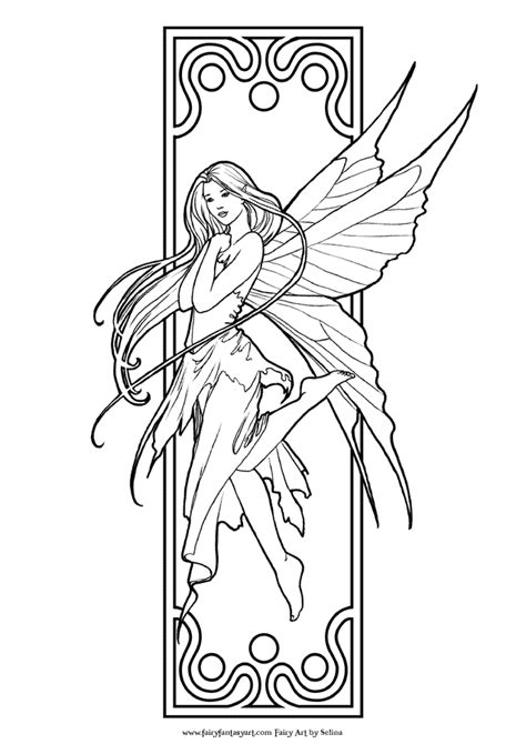 fairy coloring pages  adults    print