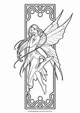 Coloring Fairy Fairies Pages Printable Adult Adults Fairie Colouring Faries Bookmarks Fantasy These Drawing Fairiesandfantasy Offers Site sketch template