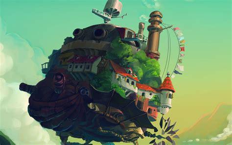 aj howl moving castle anime art illust papersco