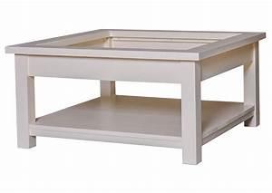 Table Basse Pin Massif : acheter votre table basse en pin massif blanche chez simeuble ~ Teatrodelosmanantiales.com Idées de Décoration