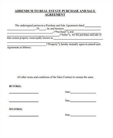 contract addendum template sle contract addendum forms 8 free documents in word pdf