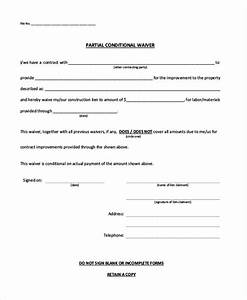doc600730 material release form sample material With partial lien waiver template