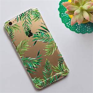 Clear, Phone, Case, With, Tropical, Leaves, Print, By, Dessi, Designs