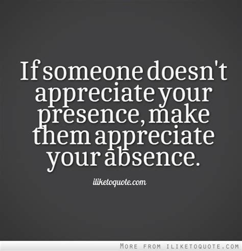 People Not Appreciating You Quotes