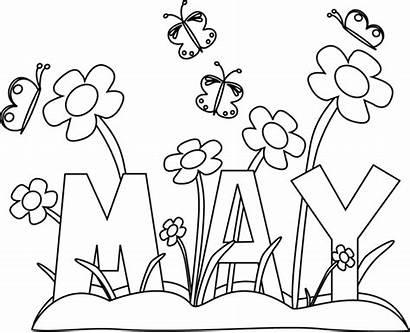 Flowers Month Clip Clipart Calendar Spring Printable