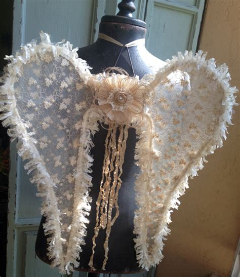 vintage angel wings burlap lace tulle wreaths