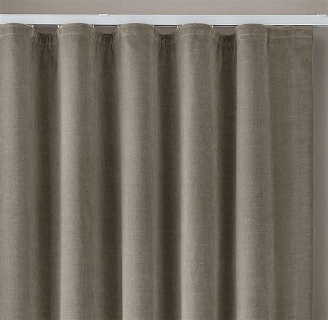 custom vintage velvet ripple fold drapery