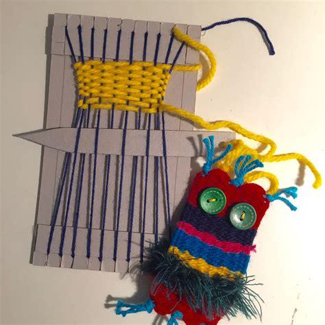 werken mit kindern ideen weben 2 klasse textiles werken