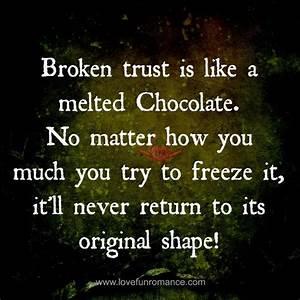 Quotes About Broken Trust. QuotesGram