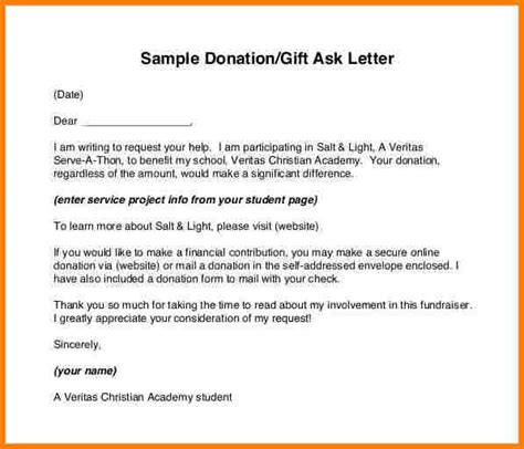 examples  donation letters  invoice letter