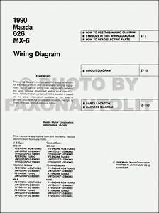 1997 Mazda 626 And Mx 6 Wiring Diagram Manual Original