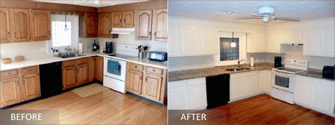 refinished cabinets before and after pictures for cabinet refinishing by kenneth c lewis in 155
