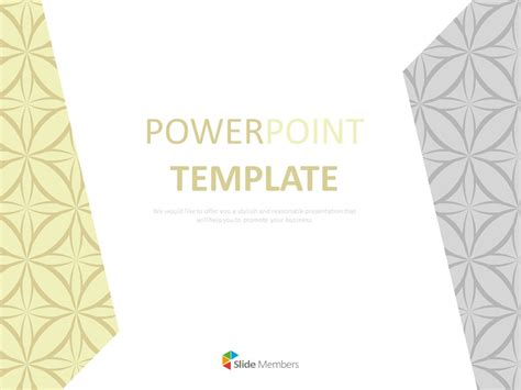 Fancy Patterned With Gray and Yellow - Free Google Slides ...