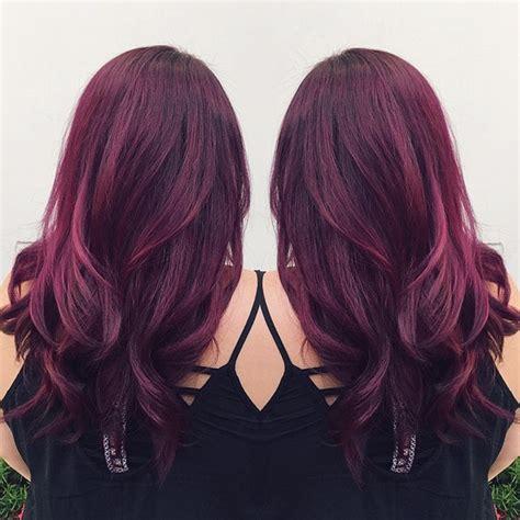reddish purple hair color wonderful purple hair color with waves