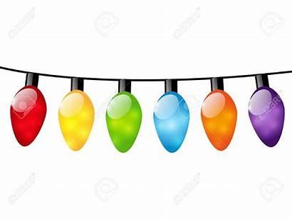 Lights Christmas Clipart Bulb String Bulbs Lightbulbs