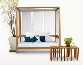wooden outdoor furniture designs by deesawat green wall stick up summer cabana