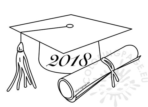 class   graduation cartoon drawing coloring page