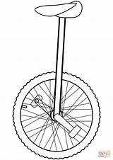 Unicycle Coloring Clipart Pages Outline Drawing Printable Clip Cliparts Cartoons Sketch Crafts Supercoloring Bear Library Skip Dot Through Hi Categories sketch template