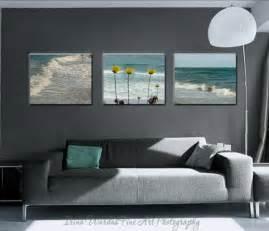 coastal beach wall art set of 3 canvas wraps teal living room decor