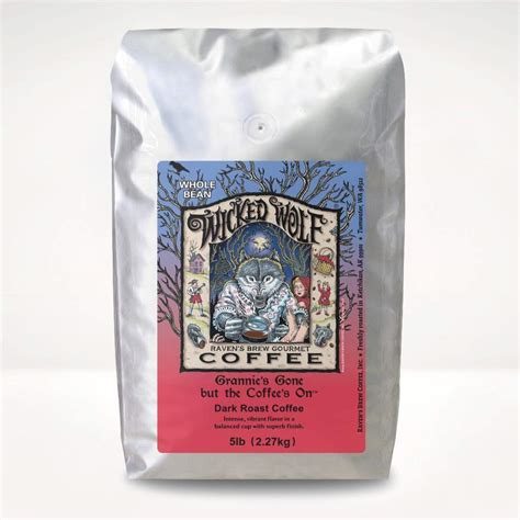 Wolf coffee selects only the highest quality arabica beans. 5lb Wicked Wolf® Coffee - Raven's Brew Coffee®