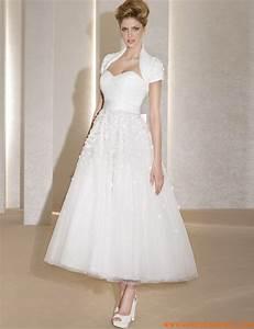 robe de mariee mi longue With robe de mariée mi longue