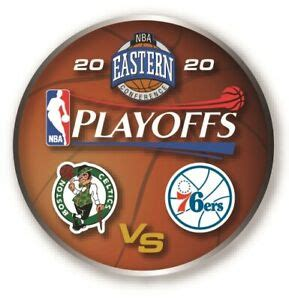 2020 NBA PLAYOFFS PIN BOSTON CELTICS PHILADELPHIA 76ERS ...