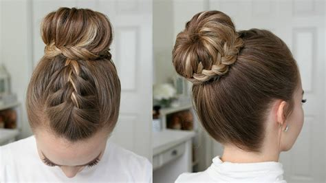 french lace fishtail high bun missy sue youtube