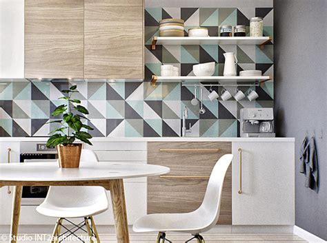 papier adh駸if pour meuble de cuisine le papier peint dans une cuisine 231 a change tout