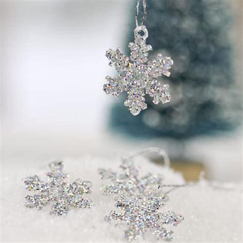 mini silver glitter snowflake ornaments what s new