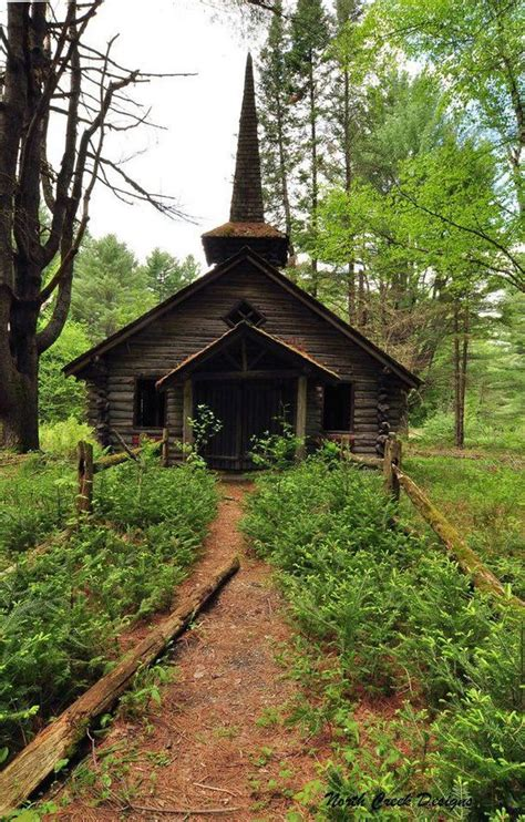 Abandoned Little Churches Nestled Among The Trees In The