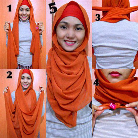 wear hijab hijab styles tutorial step  step
