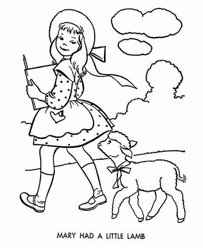 Lamb Mary Coloring Had Pages She Wherever