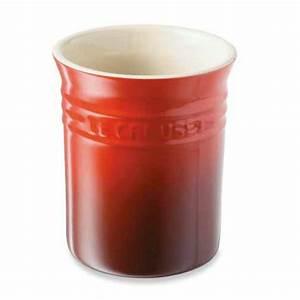 Pot A Ustensile : pot ustensiles cerise le creuset pots ustensiles organisation de la cuisine ~ Teatrodelosmanantiales.com Idées de Décoration