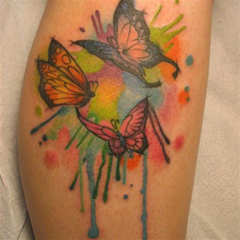 cool butterfly tattoo  butterfly leg tattoo