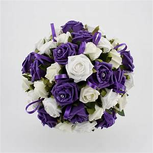 Romantic and Pretty Purple Wedding Flowers