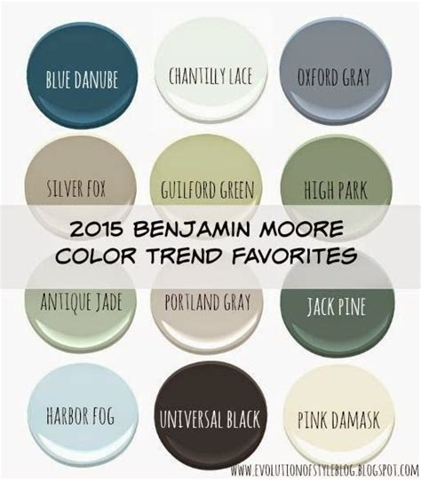 evolution of style benjamin moore s 2015 color of the