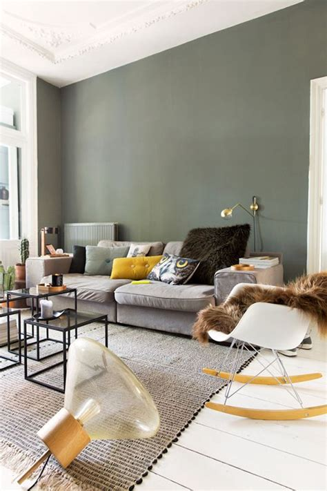green and gray walls 30 green and grey living room d 233 cor ideas digsdigs