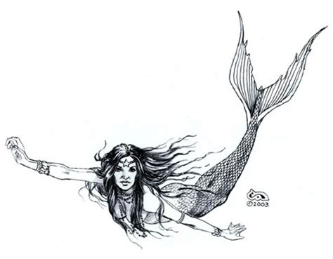 mermaid drawing clyde caldwell