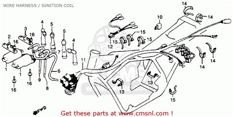 Cb 7 50 Wiring Diagram by Honda Cb750k 750 Four K 1979 Usa Wire Harness Ignition