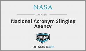 NASA - National Acronym Slinging Agency