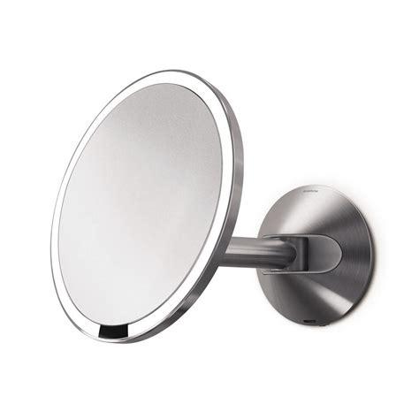 simplehuman vanity mirror simplehuman wall mount lighted sensor activated vanity