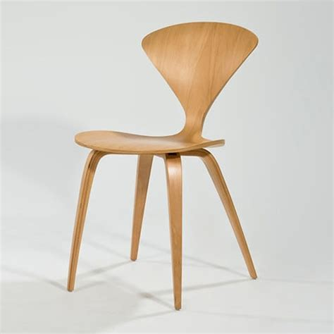 norman cherner side chair in beech stardust