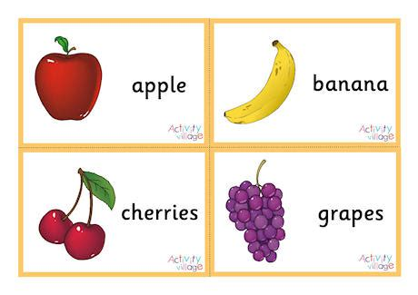 Fruit Flashcards Small