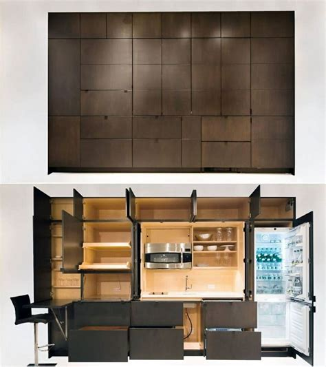Kitchen Modern Ideas - guesthouse hidden kitchen modern pinterest kitchens mini kitchen and tiny houses